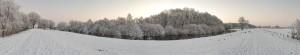 Hunte im Winter
