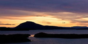 Mývatn-Sonnenuntergang