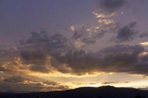 Sonnenuntergang über Seis